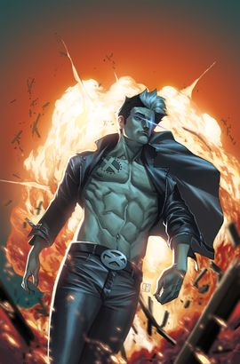 Sinister, an underling of the High Lord Apocalypse, artificially created Nate from genetic material from Cyclops and Jean Grey. Sinister created Nate as the ultimate telepath and telekinetic, and hoped to use him in his own bid for power against Apocalypse. Nate aged to his teens rapidly. Cyclops, in his many subversive raids on Sinister's pens, helped Nate escape Sinister's hideout with neither man knowing his connection to the other. Nate wound up under the tutelage of Forge and several...