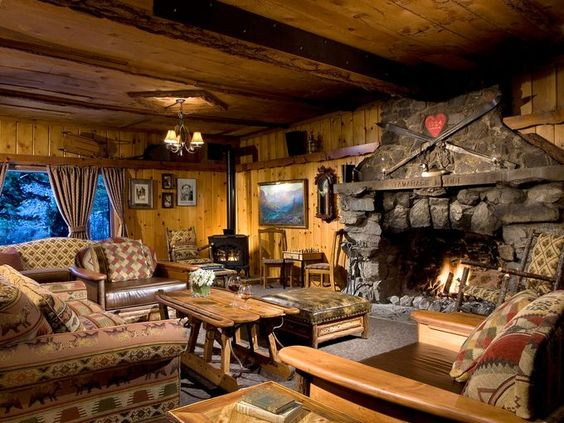Rustic Stone Fireplace At Tamrack Lodge Near Mammoth Mountain Hotel Restaurant Fireplaces