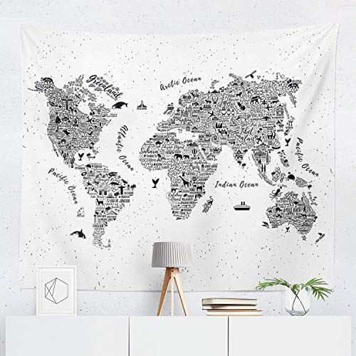 small world map tapestry Buy World Map Tapestry Wall Hanging Maps Global Globe Tapestries