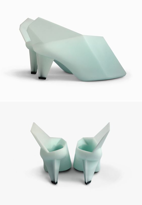 Rotationalmouldedshoe made of Polyurethane rubber and stainless steel  I used to have a doll with shoes just like this.