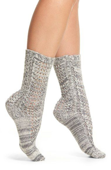 Lemon Feather Twist Crew Socks available at #Nordstrom
