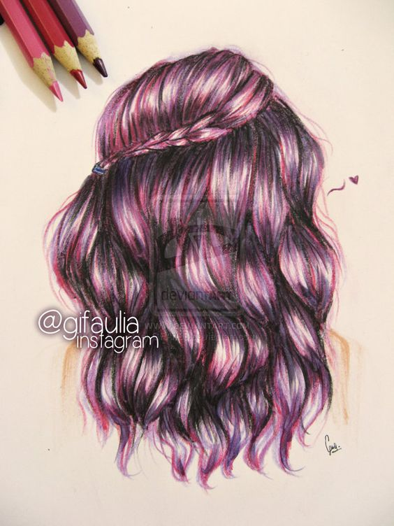 Images For > Drawings Of Braided Hair Tumblr | art in one ... Braided Hair Drawings Tumblr