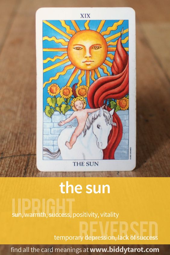 """More Tarot Tuesday The Occult Detective The High: Major Arcana Card """"The Sun"""" #tarotcardmeaning Learn More"""