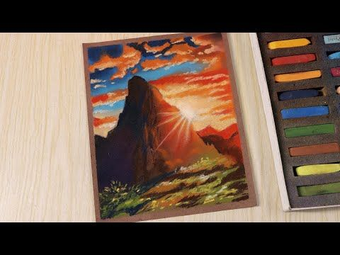 Landscape Drawing Of Nature Mountain For Beginners Step By Step Drawing Techniques Youtube En 2020 Tecnicas De Pintura