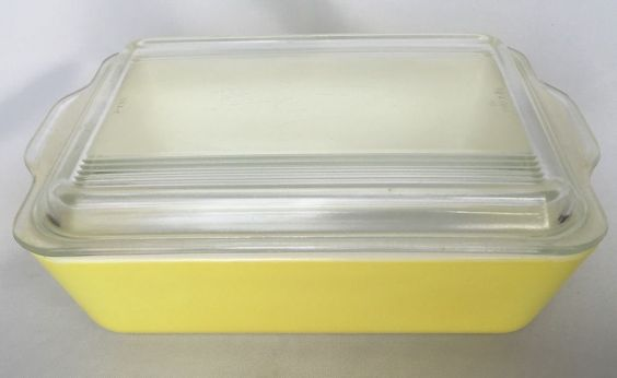 Pyrex Yellow Refrigerator Dish 0503 With Lid Baking 1 1/2 QT Ovenware Casserole #Pyrex #Refrigerator