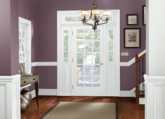 Behr spiced plum color pinterest bedrooms and behr for Plum bathroom ideas