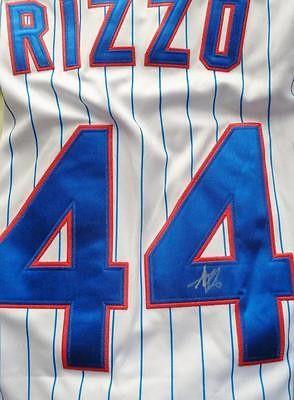 Anthony Rizzo CUBS autograph jersey COA Memorabilia Lane