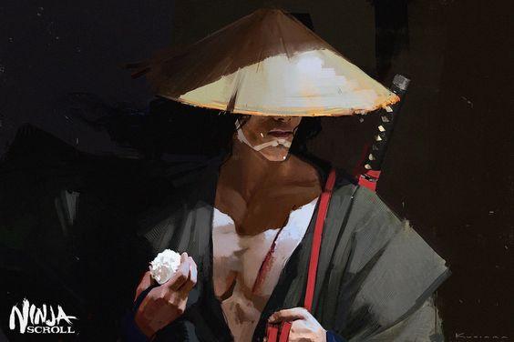 Ninja Scroll, Maciej Kuciara on ArtStation at https://www.artstation.com/artwork/ninja-scroll