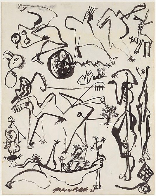 Untitled page from a lost sketchbook jackson pollock for Jackson pollock coloring page