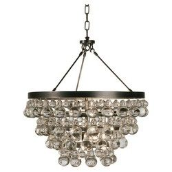 Bling Chandelier - Double Canopy - Deep Patina Bronze