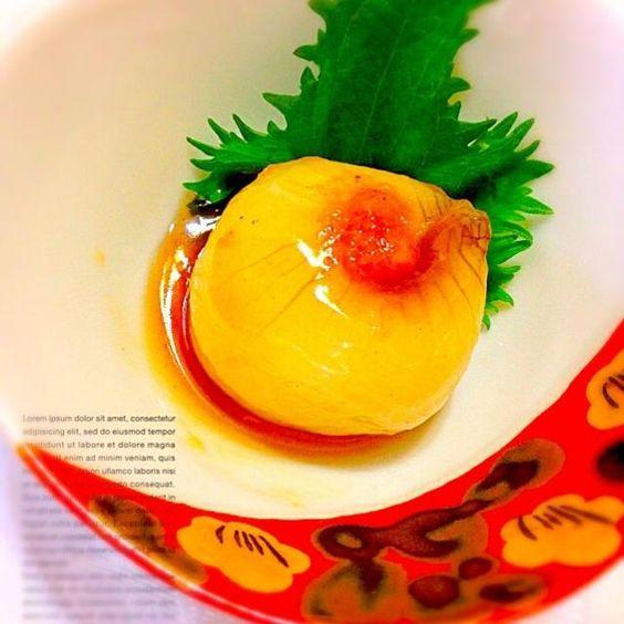 和風好きな娘に 新玉ねぎを   お出汁で煮てみました(◍′◡‵◍) - 139件のもぐもぐ - ♥︎新玉ねぎ♥︎あんかけ by nonkomama