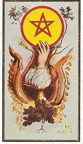 Card from Salvador Dali's Tarot Deck. Well, if it's Salvador Dali's, I gotta pin it. Right?