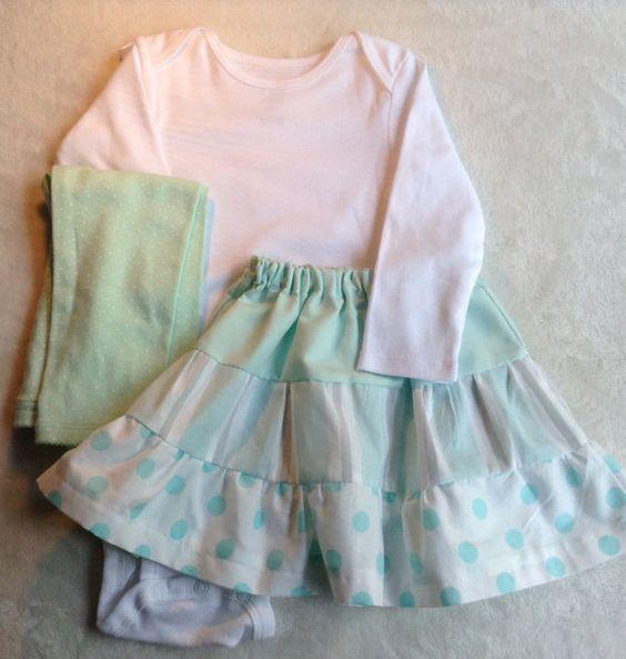 CLEARANCE  3-piece skirt/onesie/legging set. 18 by MyDucklings