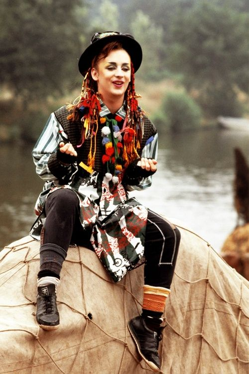 Helena Bonham Carter looks like Boy George at reggae charity event