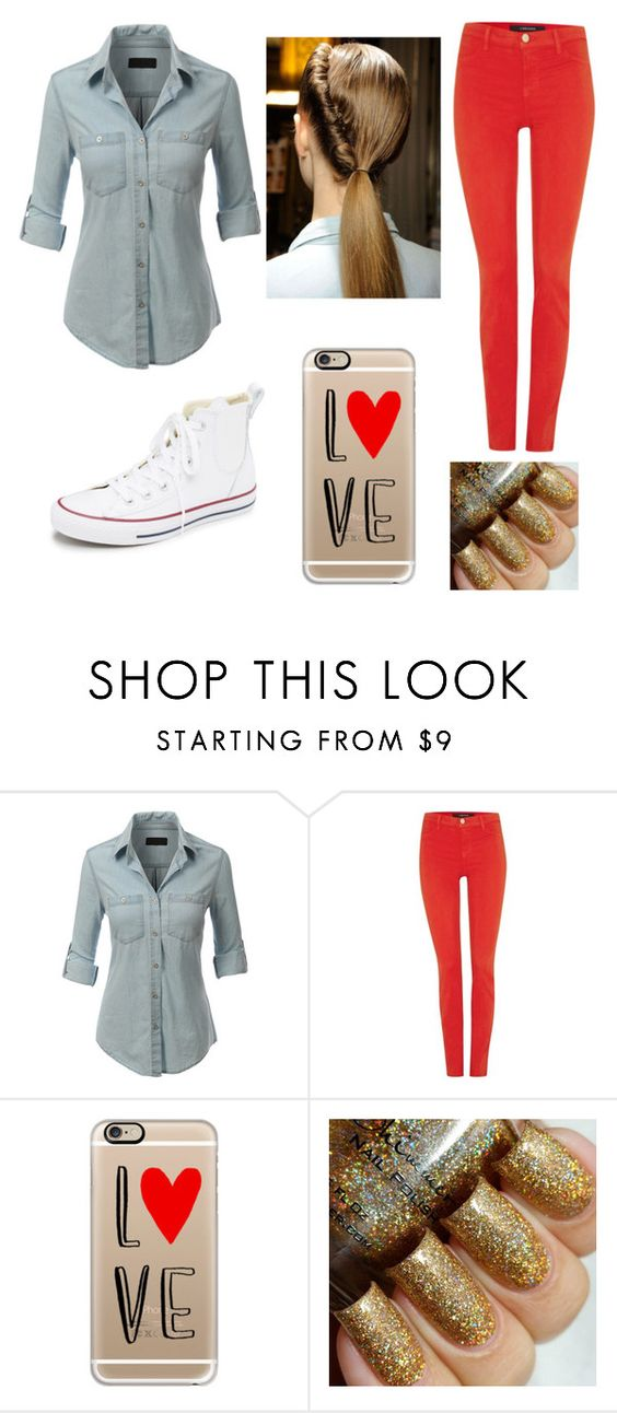 """""""Weekends❤️"""" by laurenmhenderson ❤ liked on Polyvore featuring LE3NO, J Brand, Casetify, Converse, women's clothing, women, female, woman, misses and juniors"""