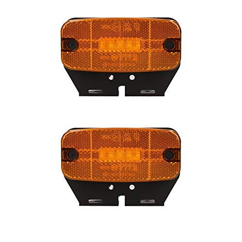 2xbernstein Orange Led Seitenmarkierungsleuchte Anhanger Wohnwagen 12v Oder 24v Geeignet Fur Den Einsatz Auf Beiden 12v Und 24v Anhanger Bluetooth Electronics