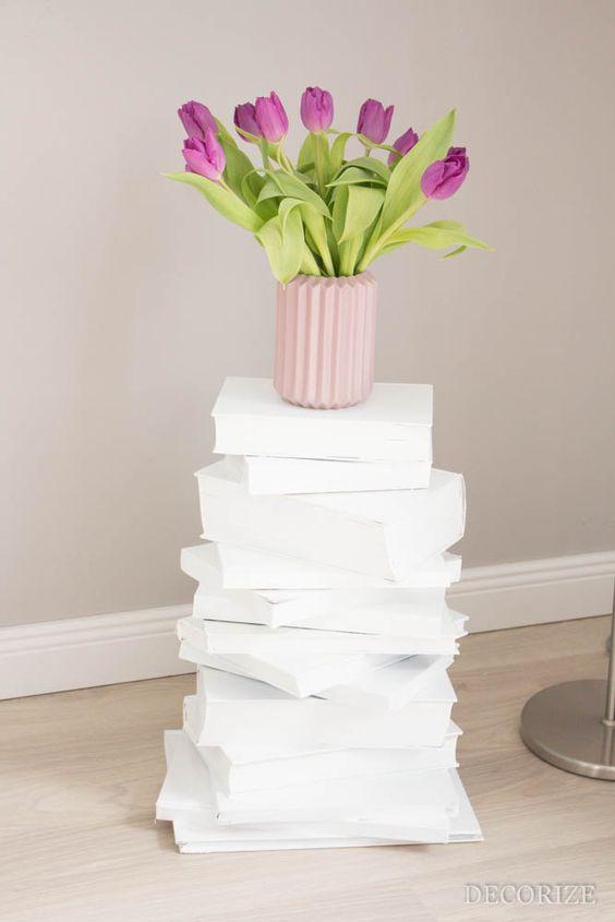 Vom Wegwerfen und Aufbewahren - Unser DIY Bücherturm