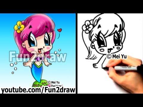 Fun2draw - How to Draw People - Chibi Mermaid