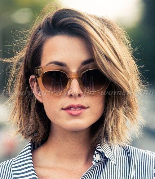Weibliche Frisur Bob Neue Frisuren Haarschnitt Bob Haarschnitt Kurzhaarschnitt Fur Dickes Haar