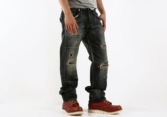 edwin pants: win rvs straightcut
