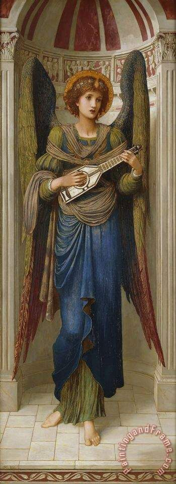 Angels Painting by John Melhuish Strudwick: