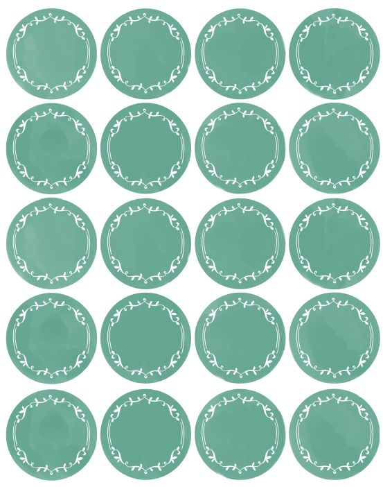 Free Blank Kitchen Stickers to Label and Organize
