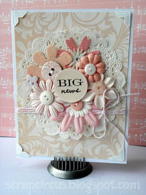 Becky Litz for Scrapbooking Cafe Online: Baby Girl card