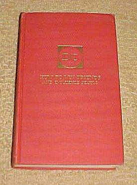 How To Win Friends And Influence People by Dale Carnegie Hardback 1937 $3.99