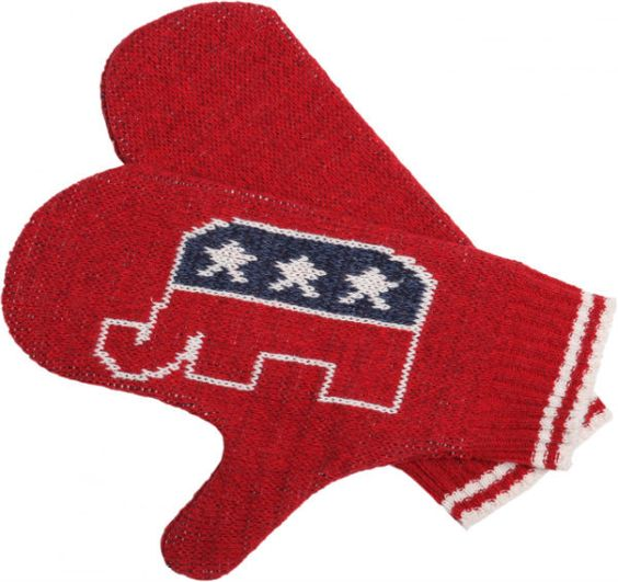 Republican Mittens: Made from 75% pre-consumer recycled cotton and 25% acrylic. This recycled fiber comes from waste product from apparel and furniture factories that would have otherwise been discarded. Manufactured in Upstate New York. $22.00