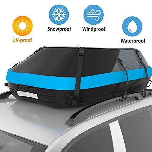 Stdy 20 Cubic Feet Rooftop Cargo Top Carrier Bag Travel Cargo Bag Box Storage Luggage By Waterproof 600 Denier Polyester Material With Easy To Install Straps So Vacuum Storage Bags Carrier Bag Cool Car Accessories