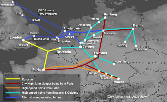 Travel by train, Germany and Train from on Pinterest