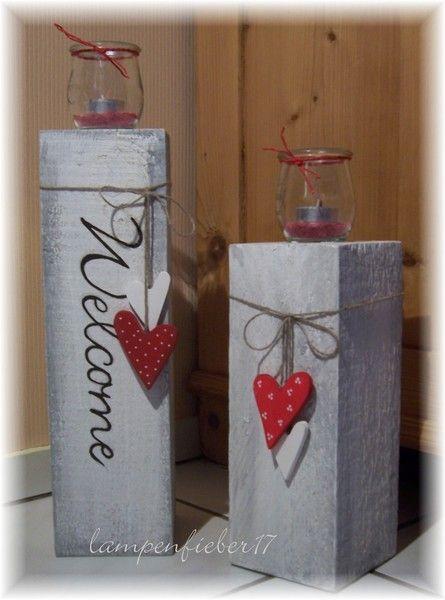 Weihnachten Holz Kerzenständer Decor Kerzenhalter DIY Party Ornamente Gemalt