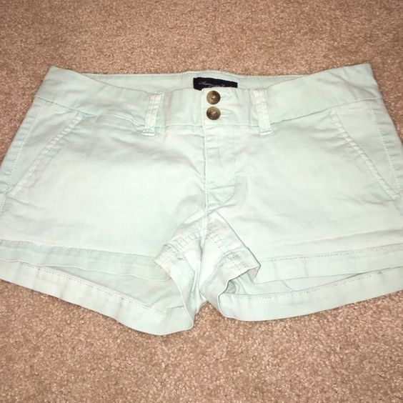 American Eagle Turquoise Shorts Like new. Only worn once. Too big. No signs of wear. American Eagle Outfitters Shorts