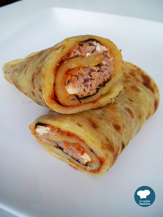Mlewi au thon recette tunisienne recettes pinterest for Cuisine tunisienne