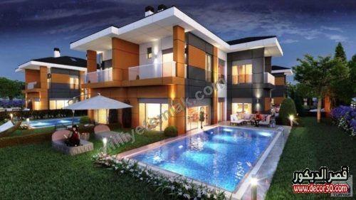 واجهات فلل حديثة في الامارات قصر الديكور Building Design Building A House House Styles