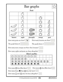 math worksheet : 1st grade 2nd grade math worksheets fruit bar graph  bar graphs  : P1 Maths Worksheets