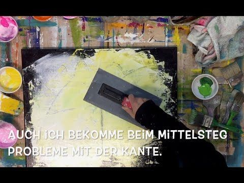 Abstract Floral Acrylic Painting Demo Xl Abstrakte Florale
