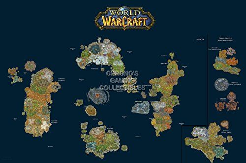 Cgc huge poster world of warcraft world map pc ext185 cgc huge poster world of warcraft world map pc ext185 argent pinterest world poster and world maps gumiabroncs Gallery