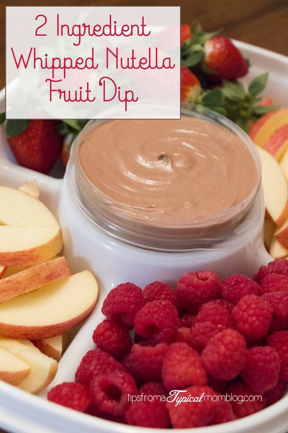 2 Ingredient Whipped Nutella Fruit Dip. And have you seen these amazing Party Platters and Serving Trays from @rubbermaid ? They make transporting food for parties so easy! #GobbleAgain #ad #IC