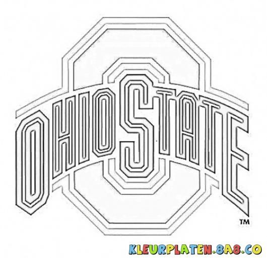 Ohio State Color Pages Ohio State Football Kleurplaten