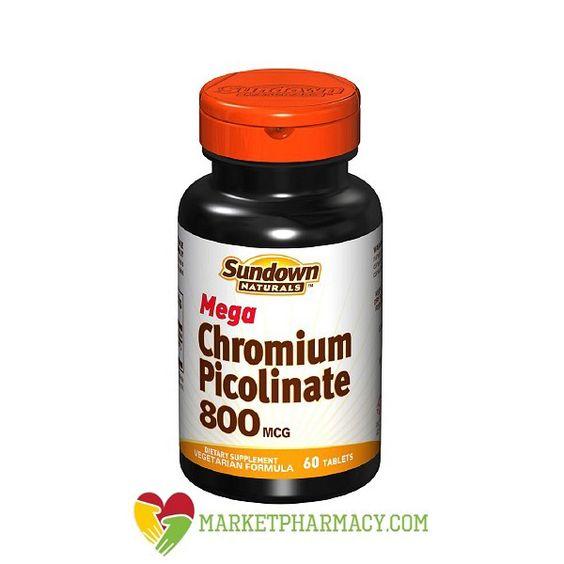 #SundownNaturals mega chromium picolinate 800 mcg essential nutrient for healthy immune system. It's good mineral supplement for metabolic health. #Multivitamin