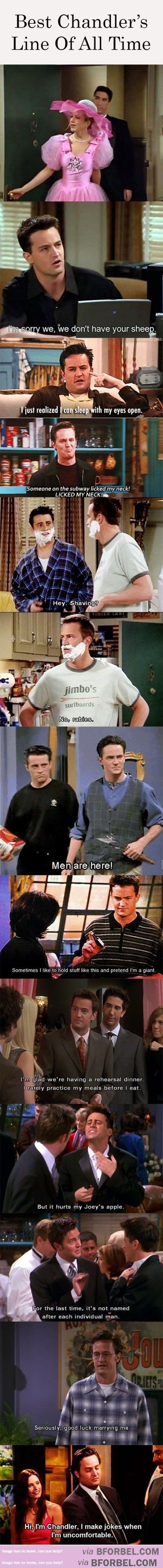 10 Of Chandler's Best Lines… | B for Bel: