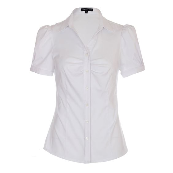 Blouse For Working Women At Pinstripe & Pearls _ Classic White ...