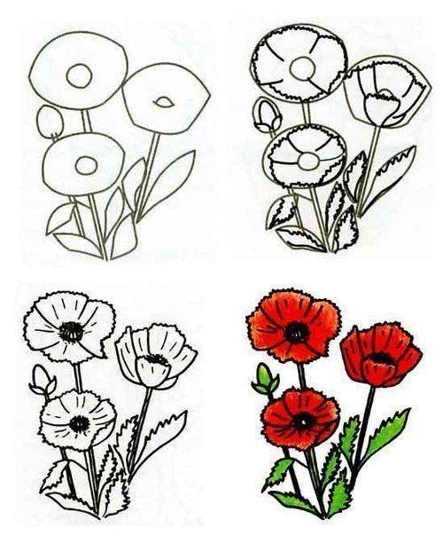 Auf Diese Seite Konnen Sie Blumen Malen Lernen Es Ist Ganz Einfach Und Mit Hilfe Diese Schone Vorlagen Erkenn Blumenzeichnung Blumen Malen Wie Man Blumen Malt