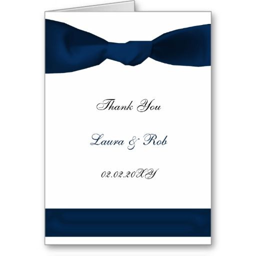 Order navy blue satin bow wedding thank you card navy blue satin – Order Wedding Thank You Cards