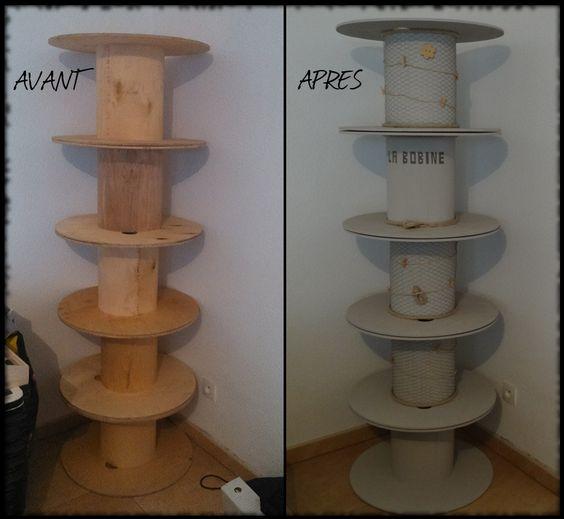 cr er une tag re d co partir de tourets de chantier et en plus les parties pivotent les. Black Bedroom Furniture Sets. Home Design Ideas