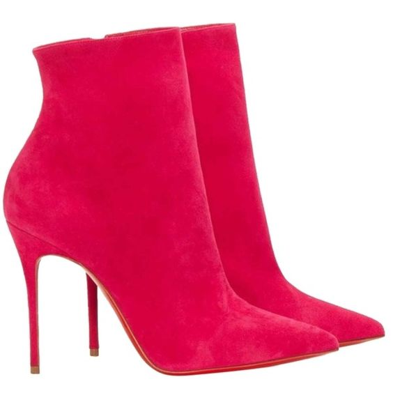 Pre-owned Christian Louboutin So Kate Hot Pink Boots (2.542.150 ...