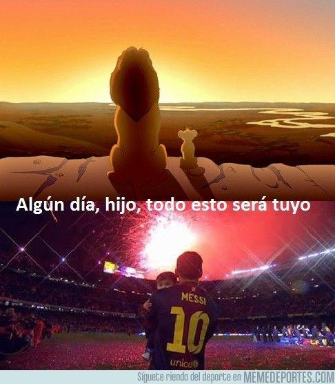El Rey León y el Rey del Camp Nou