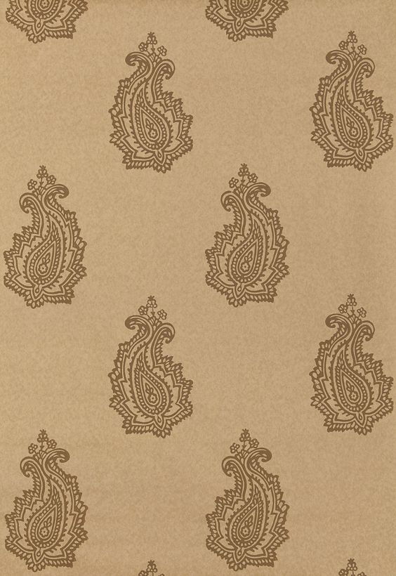 Wallcovering / Wallpaper | Madras Paisley in Tabac | Schumacher
