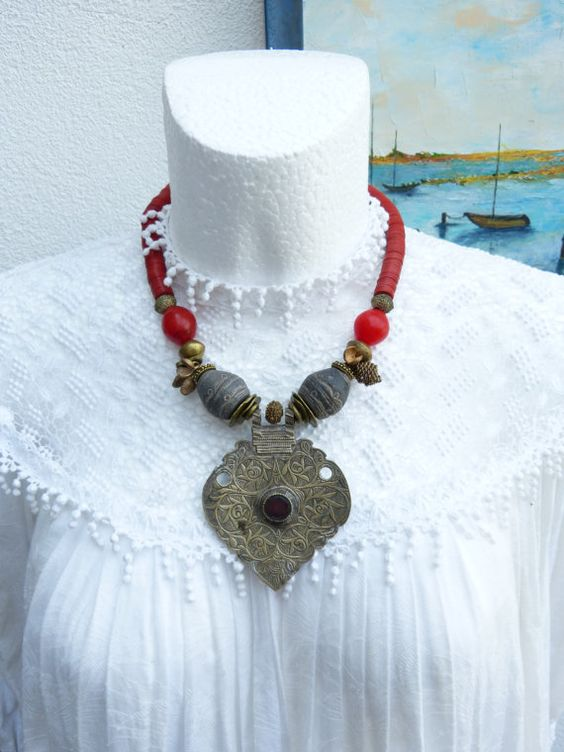 Stunning Antique Middle Eastern/Central Asian by beadartaustria, SOLD